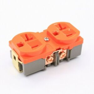 1pcs King Snake 20a Brass Plated Purple Copper Us Standard Power Supply Socket