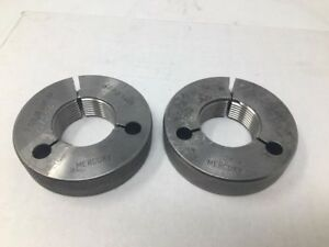 1 1 2 12 Unf 3a Thread Ring Gages Go No Go P d s Mercury 1 4411 1 4459