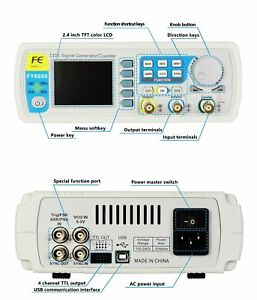 Feeltech Fy6800 30mhz Function Arbitrary Waveform Pulse Dds Signal Generator