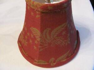 Small 5 1 2 Colonial Americana Eagle Coverlet Clip On Lampshade Lined Inside
