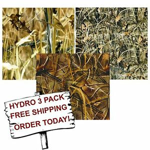 Hydro Dip Hydrographic Film Water Transfer Printing Film Reeds Camo 3 Pack