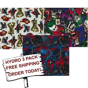 Hydro Dip Hydrographic Film Water Transfer Printing Film Comic Con 3 Pack