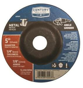 Century Drill Tool 5 X 1 4 Depressed Center Grinding Wheels 75547 Case Of 10