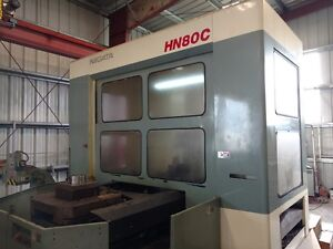 Used Niigata Hn 80c Cnc Horizontal Machining Center Mill 800 Mm Full B Axis 1997