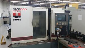 Used Tree Vmc 500 Vertical Machining Center Mill Siemens 2100 20x20 Cat40 1995