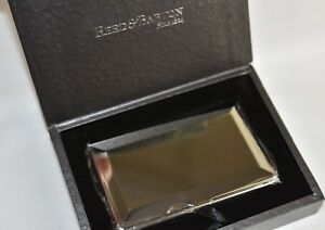 New In Gift Box Reed Barton Andover Business Card Case Holder Silver