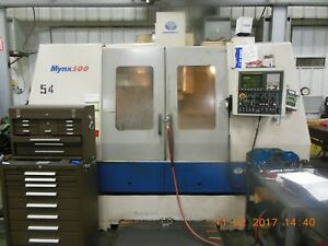 Used Daewoo Mynx 500 Cnc Vertical Machining Center Mill Fanuc Ct40 Box Way 2000