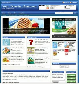 South Beach Diet Blog Website Business For Sale Targeted Seo Content Included
