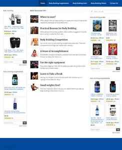 Body Building Blog And Shop Website Business For Sale Mobile Responsive
