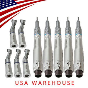 5 Kit Nsk Style Dental 2 Hole Low Speed Handpiece Contra Angle Straight Motor