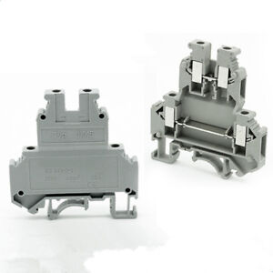 25pcs Double level Terminal Block Fit For Wire 4mm2 28 10awg 600v 32a Din Rail