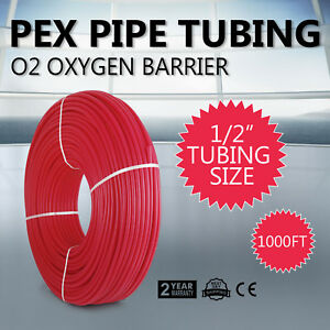 1000 1 2 Oxygen Barrier Pex Tubing For Heating And Plumbing Radiant Heat Usa