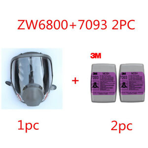 Zw 6800 7093 3 Suit Painting Spraying Reusable Respirator Half Face gas Mask