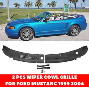 2 Pcs Wiper Cowl Grille For Ford Mustang 1999 2004 Base Gt Svt Coupe Convertible