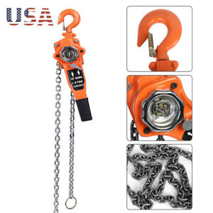 1 5 Ton Lever Block Chain Hoist Ratchet Type Comealong Puller Lifter