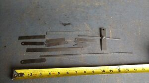 Vintage Lot Of 11 Machinist Rulers Rules Square Starrett C330 391 10 12