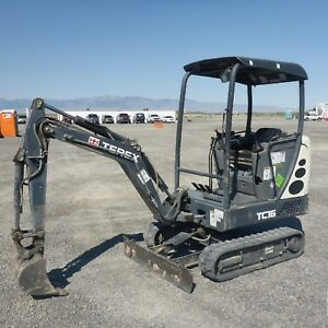 2012 Terex Tc16 Hydraulic Mini Excavator Low Hours Great Compact Machine