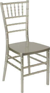 Champagne Resin Chiavari Chair Commercial Quality Stackable Wedding Chair