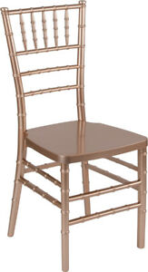 Rose Resin Chiavari Chair Commercial Quality Stackable Wedding Chair
