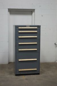 Used Equipto 7 Drawer Cabinet Industrial Tool Storage Bin 1517 Vidmar