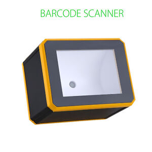 1d 2d Barcode Scanner Reader Black Desktop With Usb Interface Portable Durable