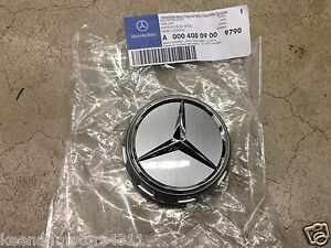 Genuine Oem Mercedes Benz Raised Himalayan Grey Center Cap