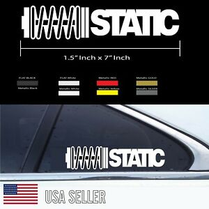 Static Stanced Lowered Dropped Stance Jdm Euro Window Sticker Vinyl Decal