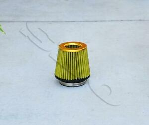4 Gold Short Ram High Flow Mesh Replacement Air Intake Cone Filter