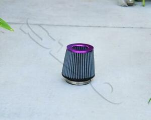 4 Purple Short Ram High Flow Mesh Replacement Air Intake Cone Filter