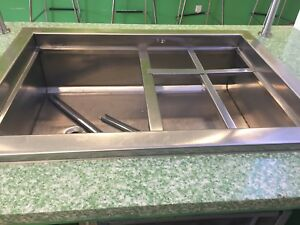 Refrigerated Drop in Stainless Steel Cold Well 24 x30 120v Works Great nsf