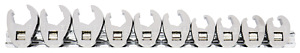 Sp Tools Flare Crowfoot Nut Wrench Rail 3 8 drive Metric 10piece Sp20574