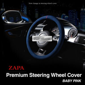 Premium Auto Steering Wheel Cover Zapa Leather Freesize Babypink For All Vehicle