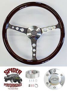 1957 Bel Air 210 150 Nomad Steering Wheel Bowtie 15 Classic Mahogany