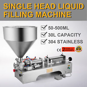 50 500ml Semi automatic Liquid Paste Filling Machine Adjustable Cream Innovative