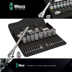 Wera Tools 3 8 Drive Metric Zyklop Metal Ratchet Set With Switch Lever 004048