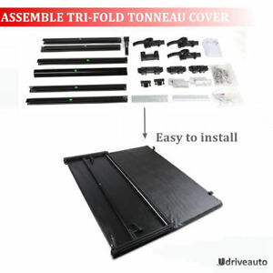 6 5ft Bed Assemble Lock Tri fold Tonneau Cover For 2007 2013 Chevrolet Silverado