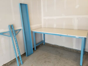 Workplace Standard Stationary Workstation With Shelf esd Laminate Tabletop