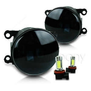For 2013 2014 Ford Fusion Replacement Fog Lights W cob Bulbs Super Smoke