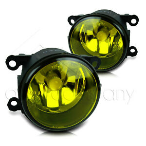 For 2013 2014 Ford Fusion Replacement Fog Lights W cob Bulbs Yellow