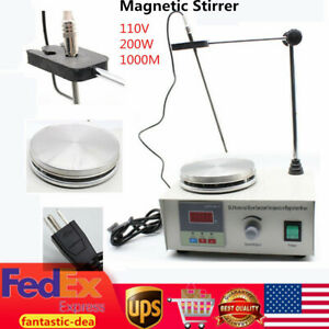 85 2 Pro Magnetic Stirrer Mixer Stirring Laboratory 1000ml With Hot Plate Us New
