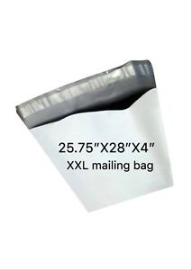 100 Pc 25 75x28x4 Large Poly Mailer Plastic Shipping Bag Envelopes Polybag