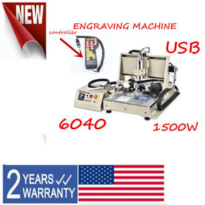 4 Axis 6040 Cnc Router Engraving Machine Usb 1 5kw Vfd Spindle Carving Machine