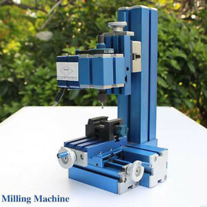 12w Aluminum Metal Mini Milling Machine Diy Woodworking Tool Student Modelmaking