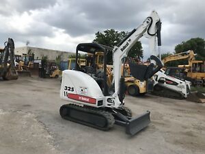 2011 Bobcat 325g Mini Excavator Rubber Tracks Backhoe Dozer 2 Speed Aux Hyd