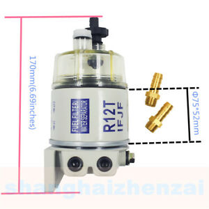 Fuel Filter Water Separator Replacement For Racor R12t With Fittings
