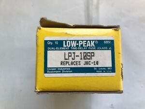 Bussman Lpj 10sp Low Peak Time Delay Fuse 600v lot Of 10