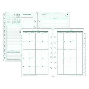 2018 Daily Planner Refill Green Print White Paper January To Decembe