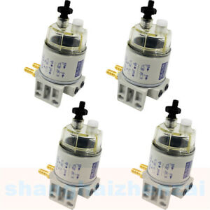 4pcs Diesel Fuel Filter Water Separator For R12t Marine Spin on Housing 120at