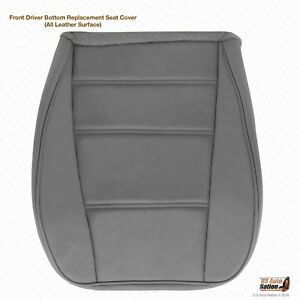 1999 2000 Ford Mustang V6 Convertible Driver Bottom Leather Seat Cover Gray