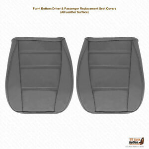 2003 2004 Ford Mustang V6 Driver Passenger Bottom Leather Seat Cover Gray